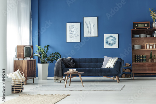 Foto auf AluDibond Gezeichnet Straßenkaffee Living room in apartment