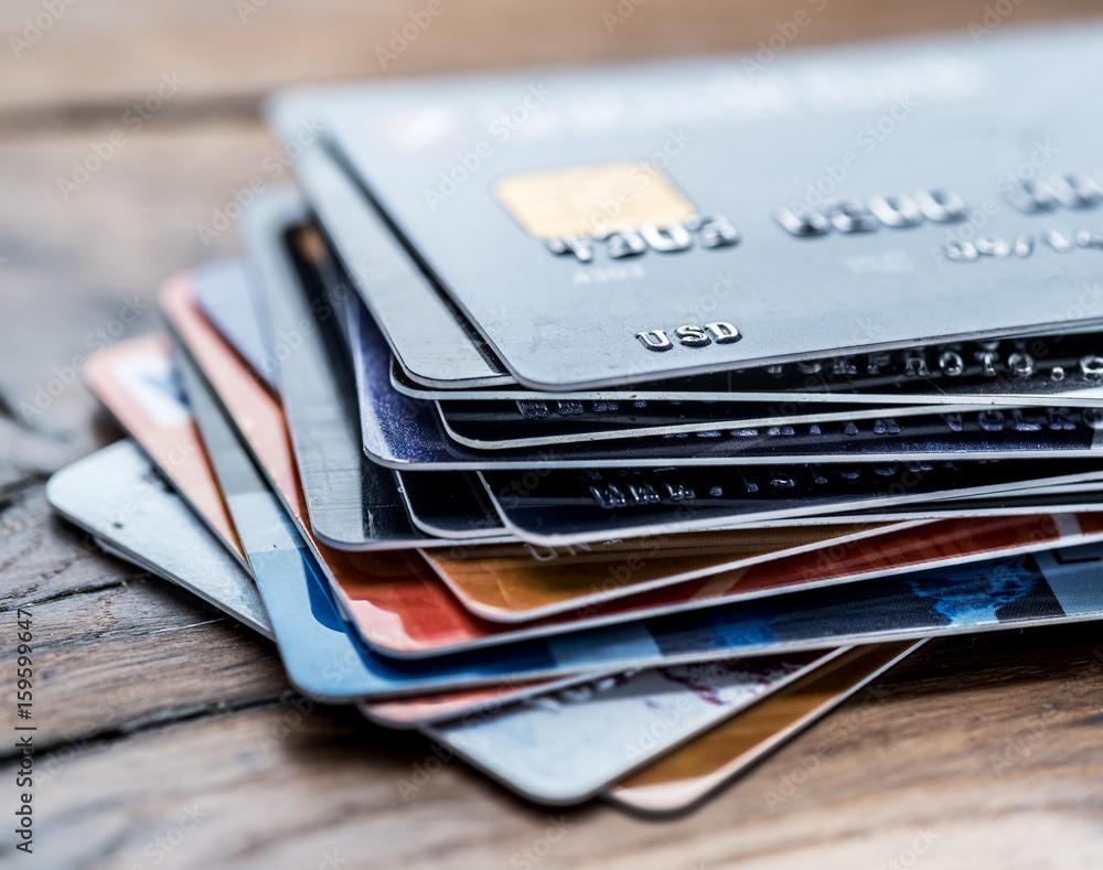 Fototapeta Credit cards.