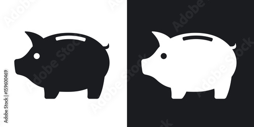 Vector piggy bank icon Fototapeta