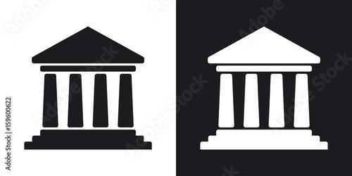 Fotografia  Vector bank building icon