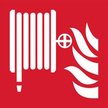 ISO 7010 F002 Fire Hose Reel