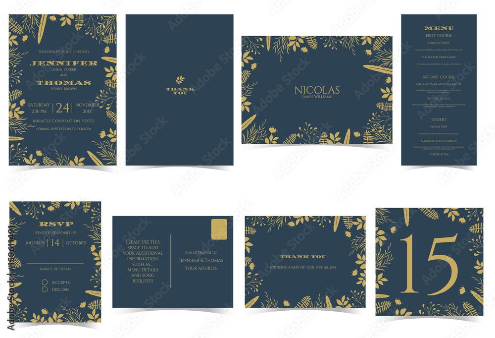 Wedding Invitation Card Formal Style Bridal Shower Card