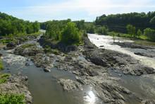 Winooski River In Essex Junction Village, Vermont, USA.