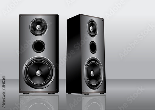 Fotografía  Stereo loudspeakers