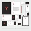 Corporate identity, stationery set.