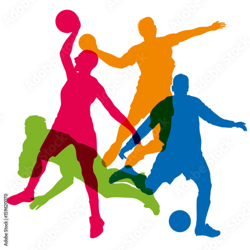 Foto  Sport - Mannschaftssportart - Fußball - Basketball - Mannschaftssportart - Rugby