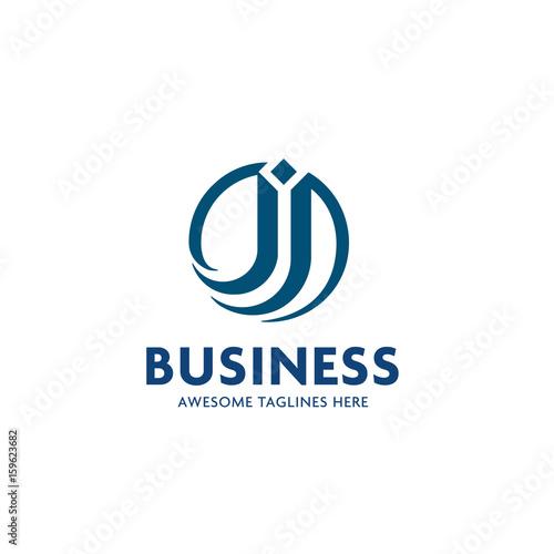 j letter logo with circle design vector illustration template letter j logo vector creative