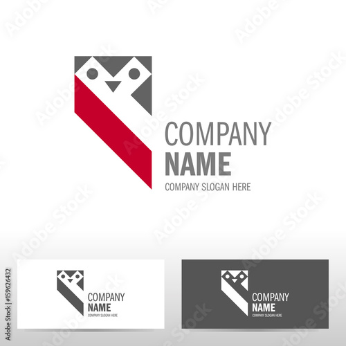 Canvas Prints Owls cartoon Business logo design with owl. Vector illustration