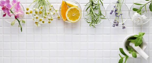 Panel Szklany Do Spa Fresh herbs