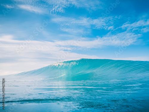 Stickers pour portes Eau Blue wave in tropic