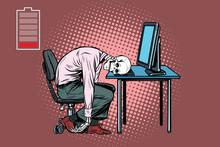 Dead Businessman Skeleton At T...