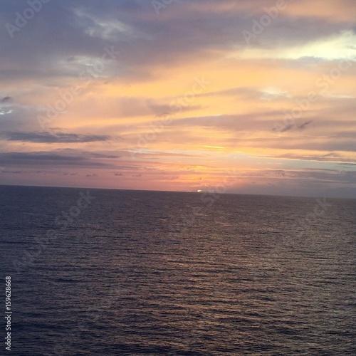 Foto op Aluminium Zalm sunset