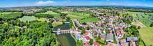 Aerial Panorama Of Eschau, A V...