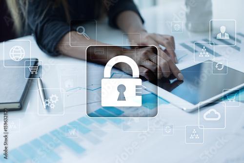 Fotografie, Obraz  Data protection, Cyber security, information safety