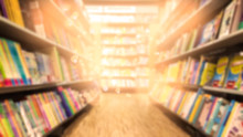 Abstract Blurred Bookstore Bac...