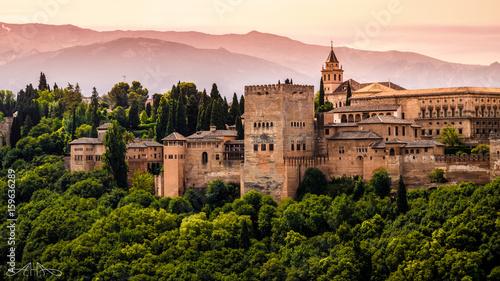 Alhambra de Granada por la tarde