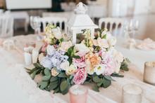 Pink Wedding Decoration With W...