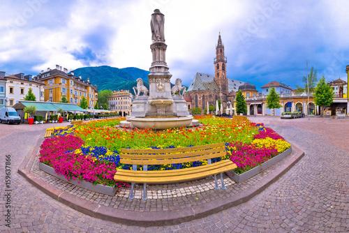 Fototapeta  Bolzano main square Waltherplatz panoramic view