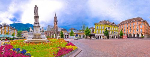 Fotografie, Obraz  Bolzano main square Waltherplatz panoramic view