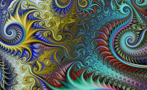 Fractal surreal background. Futuristic scientific design. Dynamic illustration