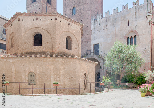 beautiful historical center of Albenza, Italy Wallpaper Mural