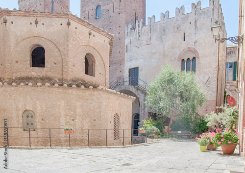 Photo beautiful historical center of Albenza, Italy