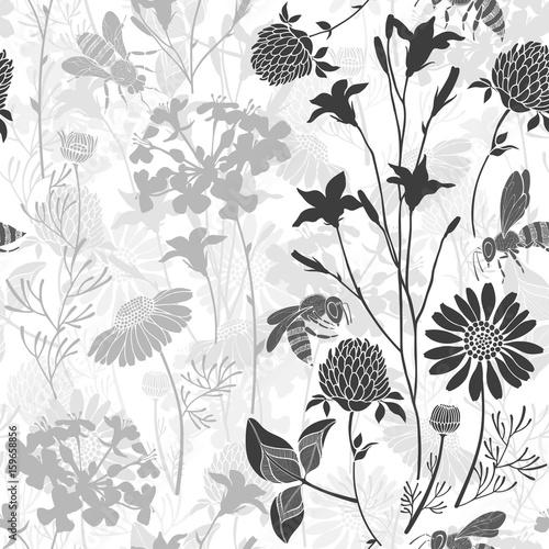 Obrazy szare szare-kwiaty