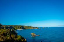 West Coast Rocky Beach, Cape Foulwind, Westport, New Zealand