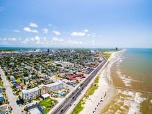 Flying Over Galveston Beach