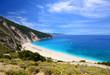 Famous beach Mirtos on Kefalonia island in Greece