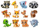 Fototapeta Fototapety na ścianę do pokoju dziecięcego - Cute Animals cartoon set