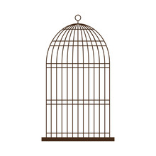 Birdcage Icon Over White Background Vector Illustration