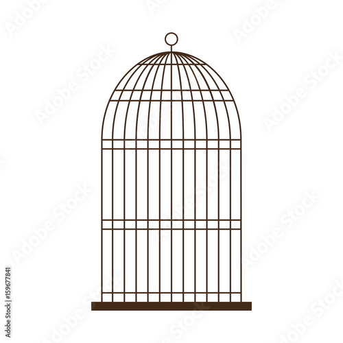 birdcage icon over white background vector illustration Wallpaper Mural