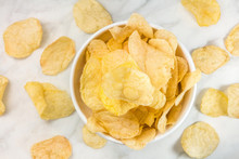 Potato Chips, Shot From Above ...