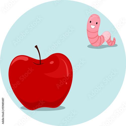 Preposition Apple Worm Far