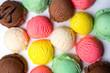 Leinwandbild Motiv Ice cream scoops collection