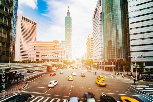 Taipei, Taiwan city skyline Wallpaper Mural