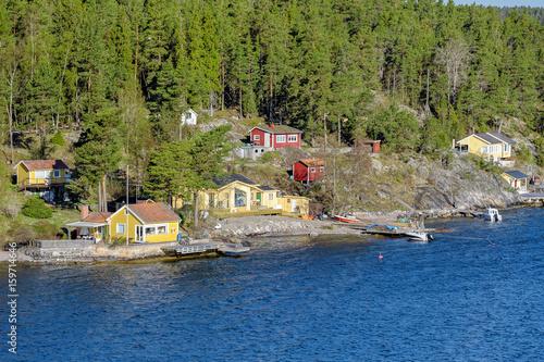 Staande foto Stockholm Stockholm archipelago at sunny morning