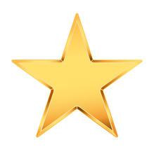 Golden Star On White. Vector I...