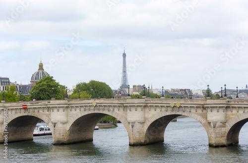 Papiers peints Paris Old bridge, Pond Royal, over river in Paris,
