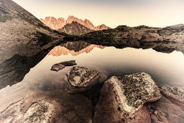 FototapetaPeaks Reflection in Lake