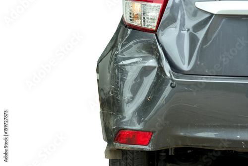 Obraz na plátně  car crash accident isolated on white background