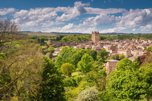 Richmond Town And Castle / The Market Town Of Richmond Is Sited At The Very Edge Of The North Yorkshire Dales, On The Banks Of River Swale