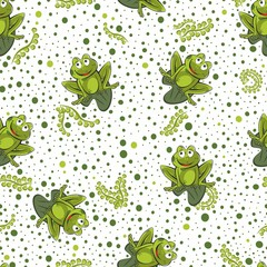 Fototapeta Do przedszkola Frog seamless background. Vector illustration.