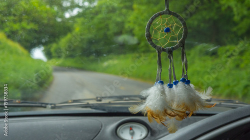 Dream Catcher Hanging In Car Driving Down Road Buy This Stock Best Dream Catcher To Hang In Car