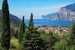 Blick auf den Gardasee oberhalb von Torbole