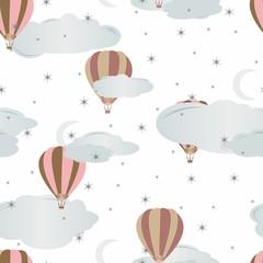 Tapeta Seamless pattern with air balloons. Vector illustration.