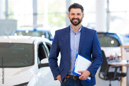 Cuadros en Lienzo Car dealer in showroom