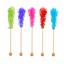 Rock Candy In A Variety Of Colors Isolated On A White Background
