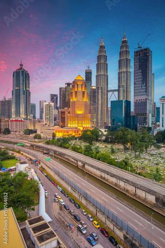 Canvas Prints Kuala Lumpur Kuala Lumpur. Cityscape image of Kuala Lumpur, Malaysia during twilight blue hour.